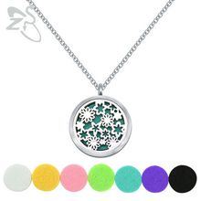 """of life Aromatherapy Essential Oil Diffuser Necklace Locket Pendant 316L Stainless Steel Jewelry with 24"""" Chain and 6 Washable"""
