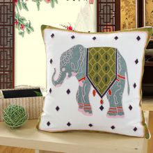 Luxurious And Beautiful Pure Cotton Embroidery Pillowcae Car Upholstery Pillow Throw Sofa Cushion Cover 18X18 Inches