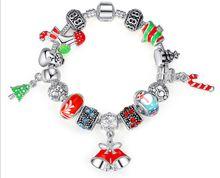 2018 Fashion 925 Sterling Silver BRACELET bloom flower enamel Clasp for Pandora Jewelry Bracelet with Original box Women Wedding Bracelets