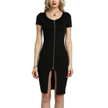 BOFUTE New Europe America Spring Summer Women's Dresses Package Hip Sexy Backless Nightclubs Tight Dress 16036