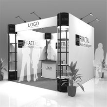 Standard 10ft*10ft Exhibition Booth Trade Fair Display Stand Economic Company Advertising Display With Wheeled Wood Case (E01B3)