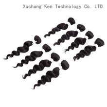 Sew in Hair Extensions 8inch Curly Synthetic Hair Weave 8pcs/pack for a head