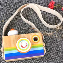 New hottest handmade simple wooden baby toy camera