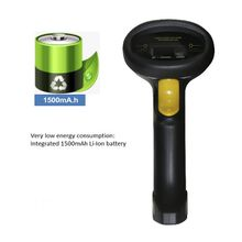 Factory price Black ultra-long standby time 1D wired bar code reader