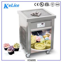 KOLICE HOT SALE ROLL ICE CREAM MACHINE FRY ICE CREAM MACHINE BY CE , ETL , UL , NSF APPROVED