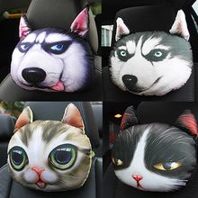The 3D husky car headrest seat neck pillow is used to protect the neck pillow with cute cartoon interior accessories