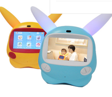Educational English kid-learning karaoke rechargeable machine children game 7 inch one undertakes to story a