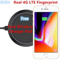 2018 Christmas Gift Unlocked Goophone i8 Plus Free Wireless charging Real 4GLTE Fingerprint Quad Core 1920*1080 Mobile Phone Glass Back