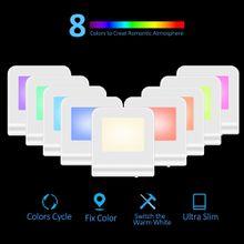 8 Colors Plug In LED Toilet Night Light,LED Baby Night Light For Kids,Dusk to Dawn Sensor LED Color Changing Nightlight