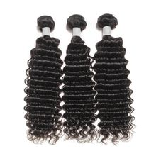 Unprocessed Deep Wave Brazilian Human Hair Wave, No Tangle Cuticle Aligned Double Weft Human Hair Extension