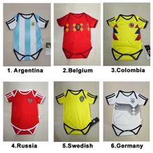 2018 World Cup Baby Kids Soccer Jersey MESSI Best Thai Quality Kids Soccer Jersey Suit Jersey All Team Children's Jersey