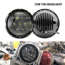 75W 7inch led headlight offroad headlamp remote halo colors for Wrangler Rubicon 4x4 truck trailer motorcycle H4 H13 lamp
