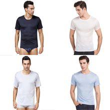 men's T Shirt Kanye West Extended T-Shirt Men's clothing Curved Hem Long line Tops Tees Hip Hop Shirts 100% Silk