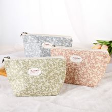 Manufacturer wholesale 2018 fashion rose cotton canvas practicazipper lovely Butterfly head zipper pouch for girls
