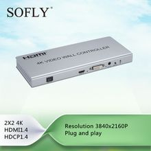 Good HDMI video wall controller 2×2 180 Degree Rotate with factory prices