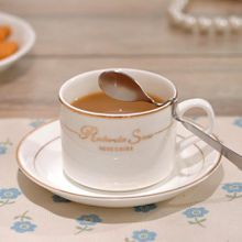 Bone China Coffee Cup,tea cup Set with Spoon,Saucer,200ml of Each Cup