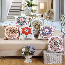 Luxurious And Beautiful Pure Cotton Embroidery Pillowcase Sofa Cushion