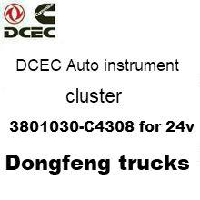 DCEC Auto instrument cluster 3801030-C4308 for 24v