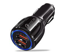 Top Quality QC 3.0 6.2A Dual USB Car Charger QC3.0 Mobile Phone Charger