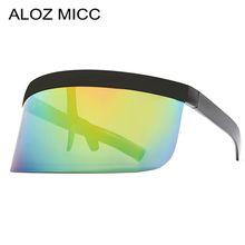 ALOZ MICC Big Frame Shield Visor Sunglasses Men 2019 Brand Designer Sexy Oversized Retro Mirror Sun Glasses For Women Eyewear A402