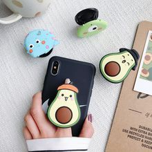 Wholesale Cartoon Air Bag Socket Mobile Phone Ring Holder Universal fold Stand Expanding phone Mount Bracket For iPhone Samsung