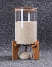 Measurable storage rice barrel, sealed tanks, rice cylinders, moisture-proof glass large storage tanksglass large storage barrel