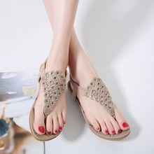 new flats Bohemia diamond casual sandals beach shoes
