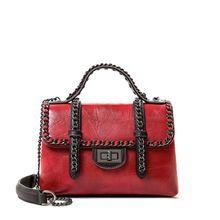 New small square bag trend handbags shoulder slung handbag Korean version of the simple chain decoration ladies girl shoulder bag