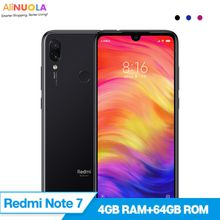 "Original Xiaomi Redmi Note 7 4GB RAM 64GB ROM Snapdragon 660 Octa Core 4000mAh 6.3"" Full Screen 2340*1080 48MP+5MP Mobile Phone"