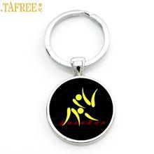 TAFREE Brand simple design Judo Karate sports keychain high quality handmade women men fashion key chain ring jewelry gift SP589