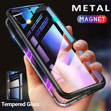 Magneto Magnetic Adsorption metal glass case for iphone X XR XS Max case magnetic cover for iphone 8 7 6 6s Plus magnet cases