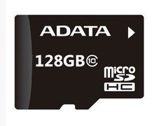 ADATA 100pcs free dhl 128GB Micro SD SDXC Flash Memory Card Class 10 Micro SD With Adapter Retail Box