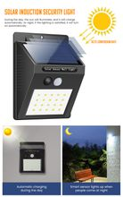 100 LED Outdoor Solar Wall Lamp Waterproof PIR Motion Sensor Garden Light Solar Powered Spotlight Sunlight Street Light