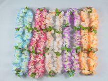 Tropical Hawaiian Luau Lei Flowers Party Supplies Hawaiian Flower Lei Garland Wreath Artificial Flowers Necklace HH0001