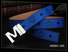 2015 NEW MCM Belt for Men and Women M Shape Metal strap Ceinture Buckle free shipping