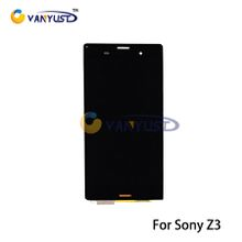 Original LCD Display Touch Digitizer Complete Screen Panels Full Assembly with Frame Replacement For Sony Xperia Z3 LCD D6603 D6653 L55t