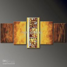 5 panel wall deco ABSTRACT CANVAS ART OIL PAINTING Guaranteed decoration oil painting P60123