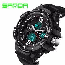 Fashion Watch Men Waterproof LED Sports Military Watch Shock Resistant Men's Analog Quartz Digital Watch relogio masculino
