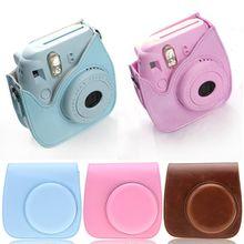 Camera Case PU Leather Covers Bag For Fuji Fujifilm Instax Mini 8 8s