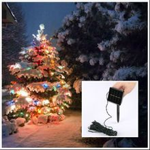 Solar Energy Christmas Decorative lights 100LED Coloured Lights Garden Decoration Wedding Decorations Christmas Tree Colorful Lights DHL