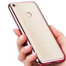 Electroplating transparent TPU Phone Cover for Apple iPhone 7 Plus Soft TPU Cover Case Electroplated Case