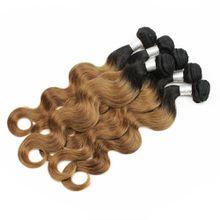 400g Colored Brazilian Hair Body Wave T1B/30 Auburn Ombre Peruvian Indian Malaysian Cambodian Virgin Human Hair Weaves