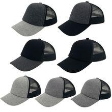 Classic High Quality 7 Colors Child Baseball Cap 100% Cotton Plain 5 Panels Trucker Mesh Hat Kids Adjustable Boys Girls Sports Size(54~57cm)
