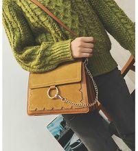 Women's Bags. Suede. Small. Casual fashion bag. Rivet. Metal ring. Girls. PU. Soft. Monochromatic.Cross Body.Shoulder Bags.