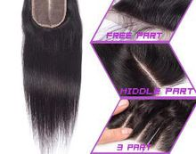 Brazilian Hair Lace Closure 8-20inch Straight Closure Natural Color With Bleached Knot
