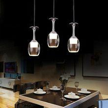 Modern LED chandelier 9W wine glass with 3 bulbs Hängende Acrylic Ceiling Shades
