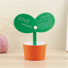 Novelty Table Calendar Bud Flowerpot Shaped Mini Desk Calendar Lovely Spring Bling Planter Design New Year Home Office Gift