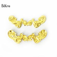 BoYuTe 50Pcs 7 Colors 17*62MM European Charms Brass Metal Vintage DIY Jewelry Accessories