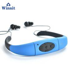 Waterproof mp3 player/FM radio headset swimming mp3