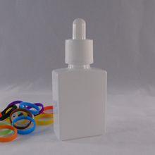 Child proof ejuice glass bottle 15ml 30ml rectangle white color eliquid oil dropper bottle tamper for perfume oil glass bottle wholesale